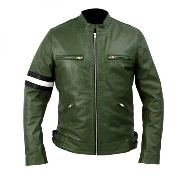 Dirk Gently Green Leather Jacket