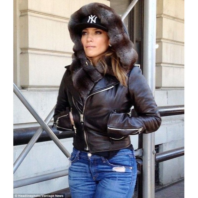 Jennifer Lopez Leather Fur Jacket