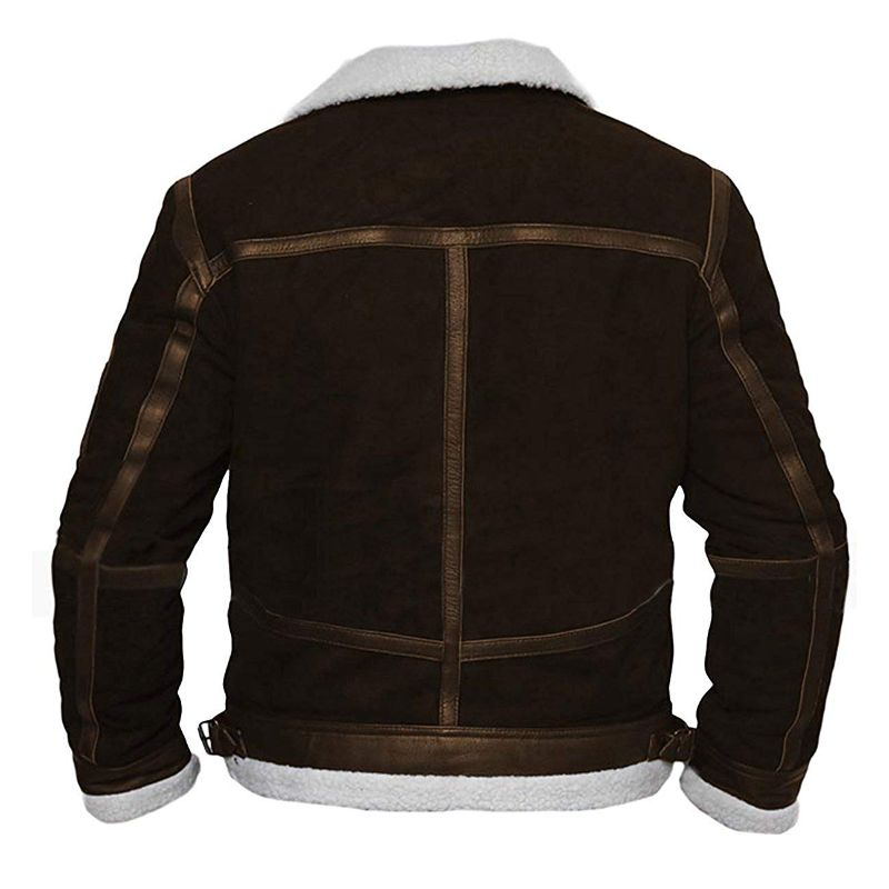 Brown Shearling 50 Cent Jacket Power