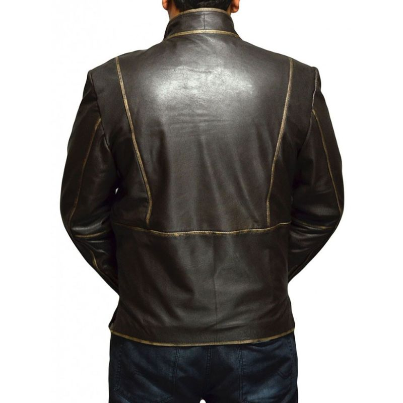 Tron Legacy Sam Flynn Leather Biker Jacket