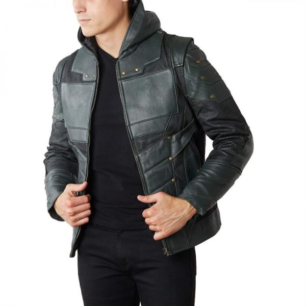 Green Arrow Leather Jacket + Vest