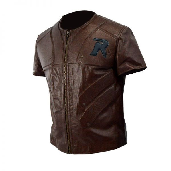 Batman Arkham City Robin Brown Leather Vest
