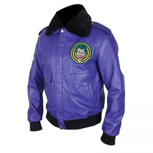 Henchman Joker Goon Purple Bomber Jacket