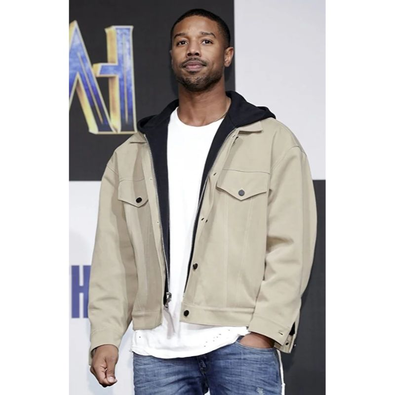 Black Panther Michael B Jordan Hooded Jacket