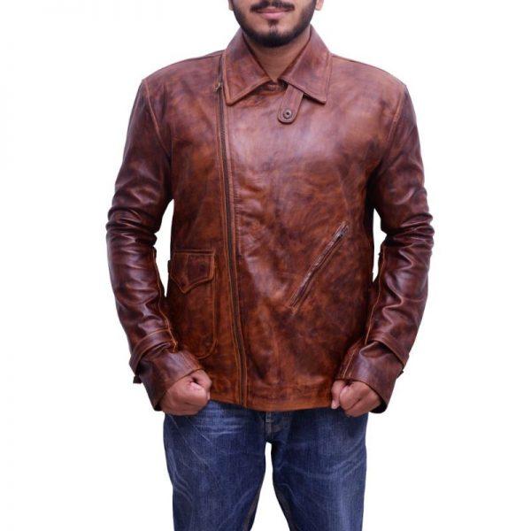 Brown First Avenger Leather Jacket
