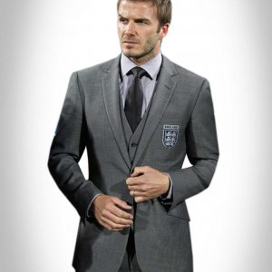 David Beckham Grey Suit