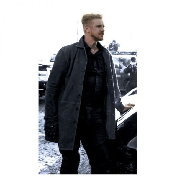 Boyd Holbrook Logan Donald Pierce Leather Coat