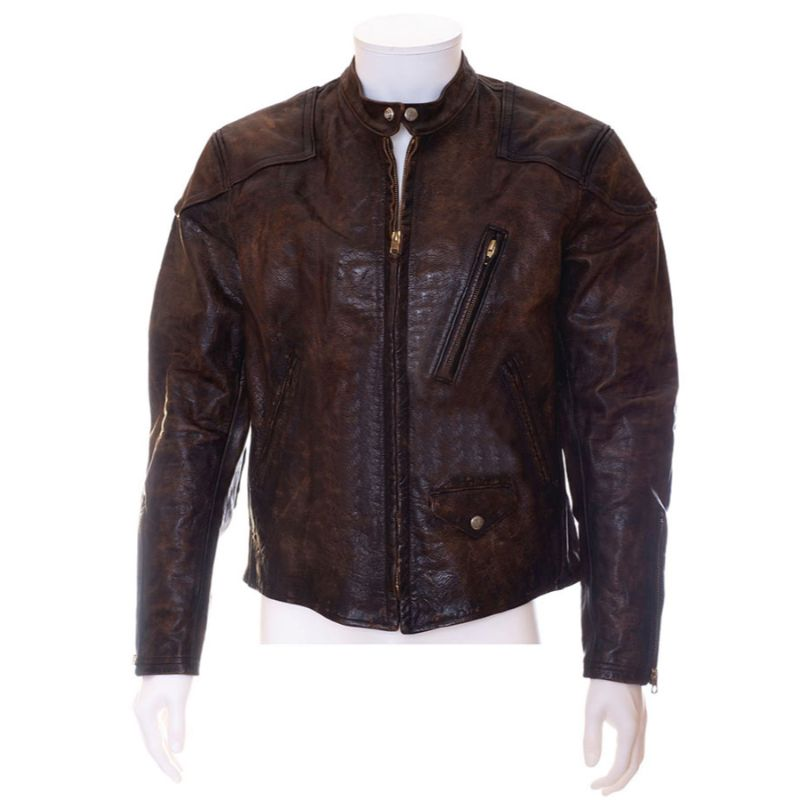 Venom Eddie Brock Distressed Brown Leather Jacket
