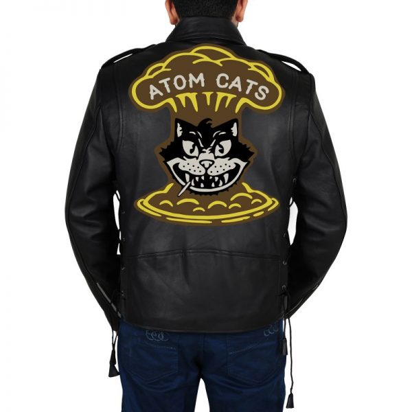 Black Fallout 4 Atom Cats Leather Jacket