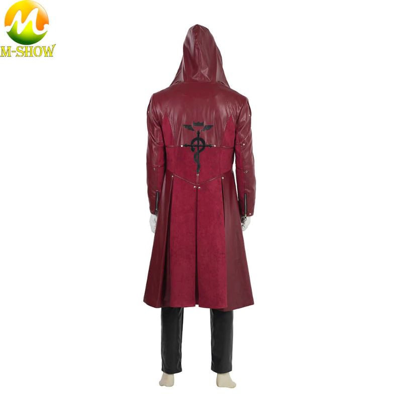 Edward Elric Red Leather Coat
