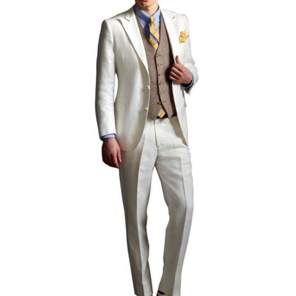 The Great Gatsby Three Piece Off White Suit
