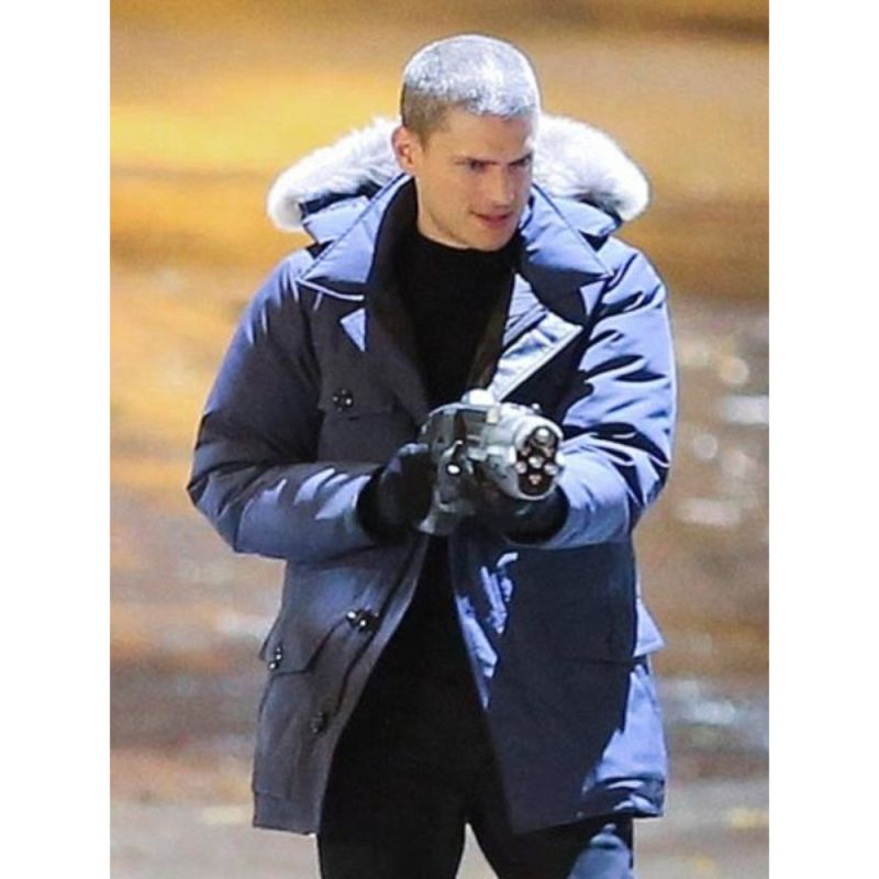 The Flash Captain Cold Blue Parka Jacket
