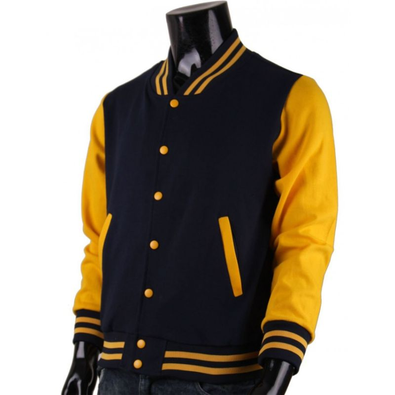 Black And Yellow Letterman Jacket