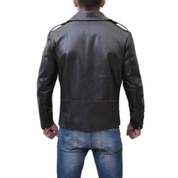 Brandon Flowers Black Leather Jacket