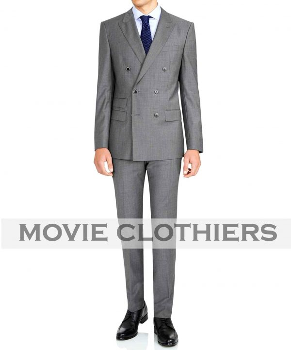 Colin Firth Grey Kingsman Suit
