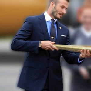 David Beckham Navy Suit