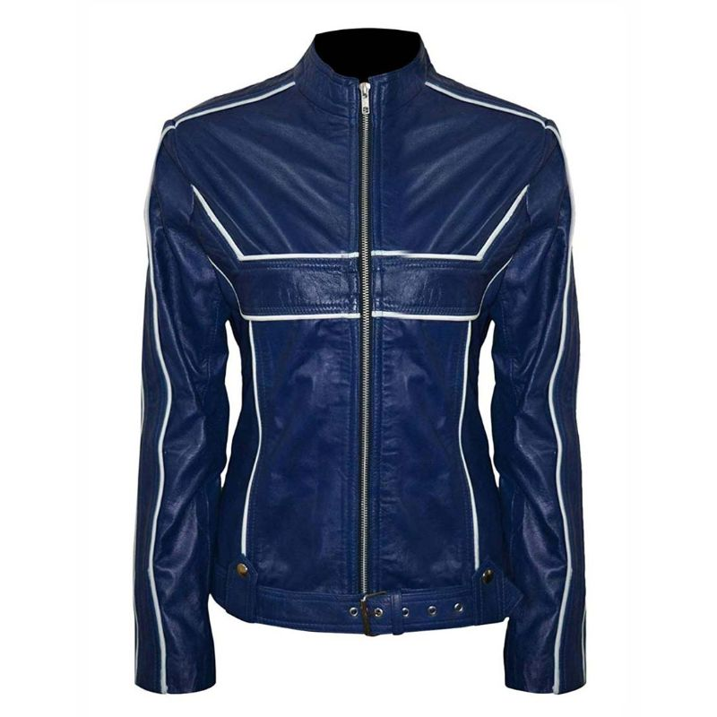 Emma Swan Once Upon a Time Blue Leather Jacket