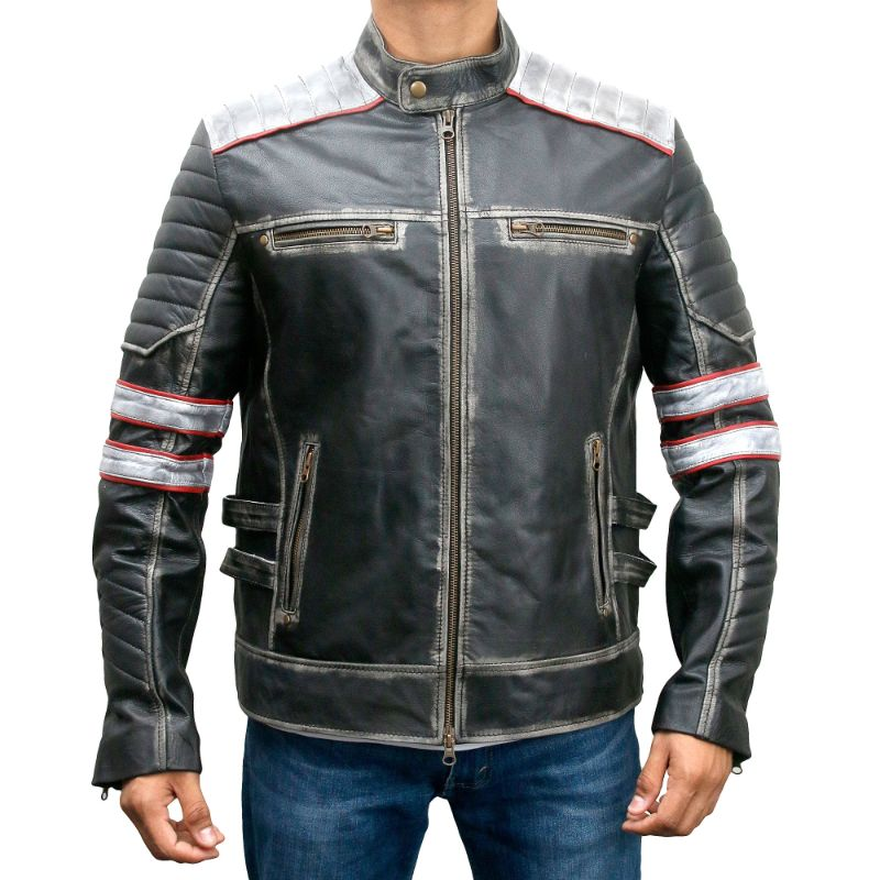 Cafe Racer Retro Motorcycle Jacket