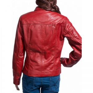 Emma Swan Red Leather Jacket