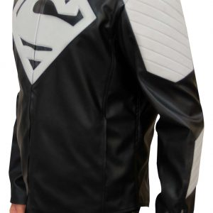 Black Superman Motorcycle Jacket