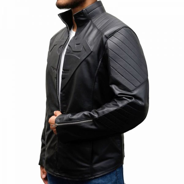 Superman Black Leather Jacket
