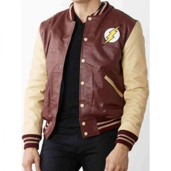 The Flash Varsity Bomber Jacket