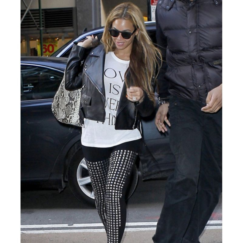 Beyonce Black Leather Jacket