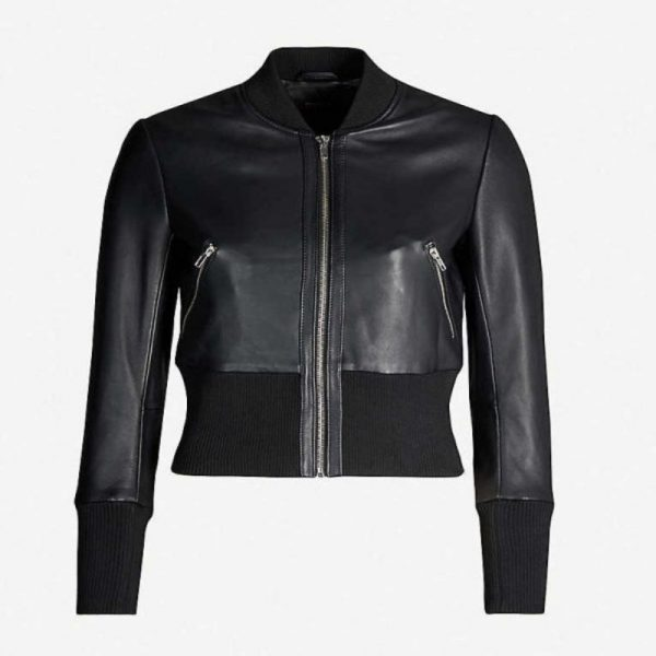 Arrow S08 Laurel Lance Leather Bomber Jacket