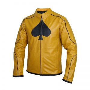 Classy Dijon Mustard Yellow Leather Jacket