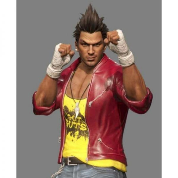 Dead Or Alive 6 Diego Red Leather Jacket