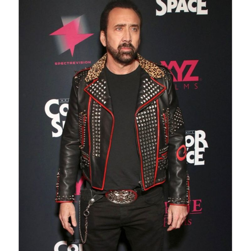 Nicolas Cage Color Out of Space Studs Jacket
