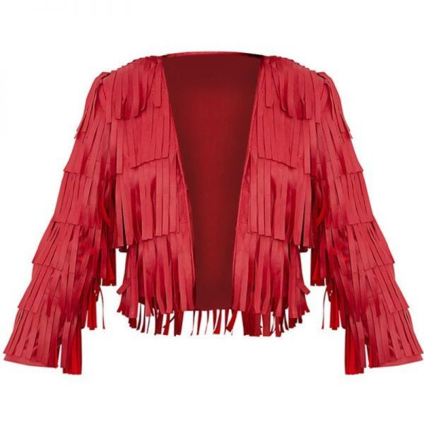 Red Fringe Jacket