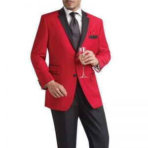 Men's Red And Black Tuxedo